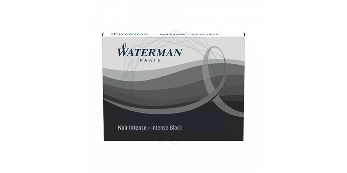 Naboje do piór WATERMAN długie czarne (8szt) S0110850