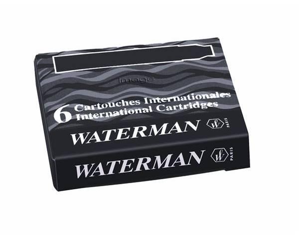 Naboje do piór WATERMAN krótkie czarne (6szt)